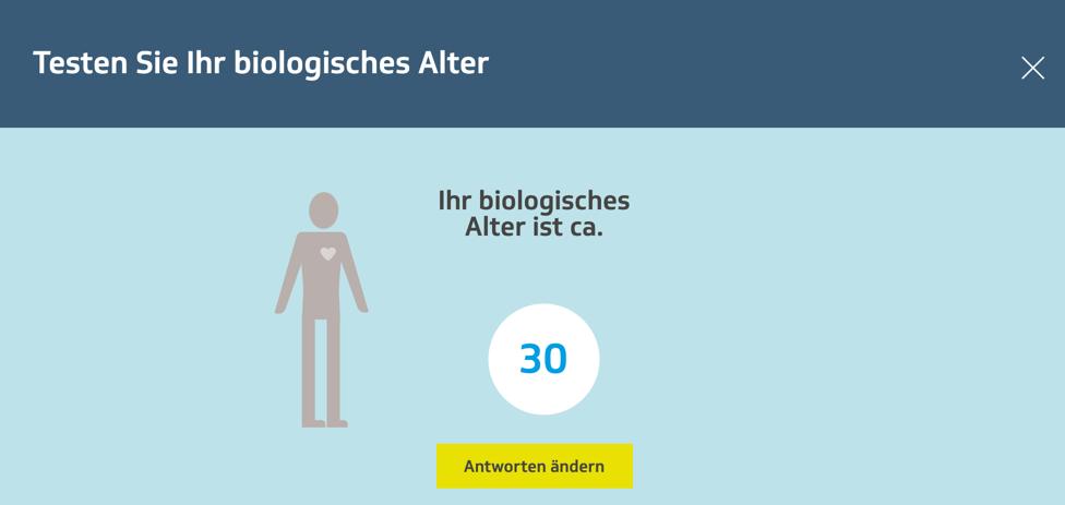 Test des biologischen Alters