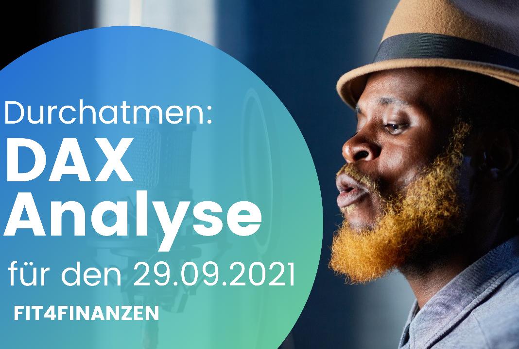 DAX-Morgenanalyse am 29.09.2021